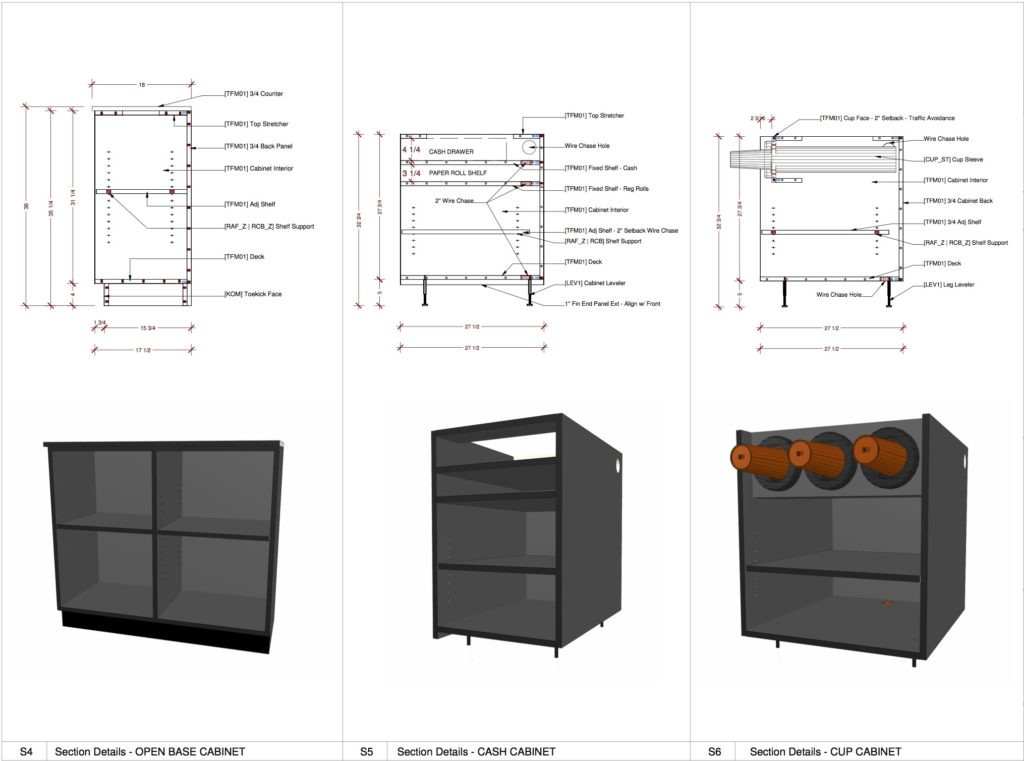 Multiple Cabinet Graphic Renders